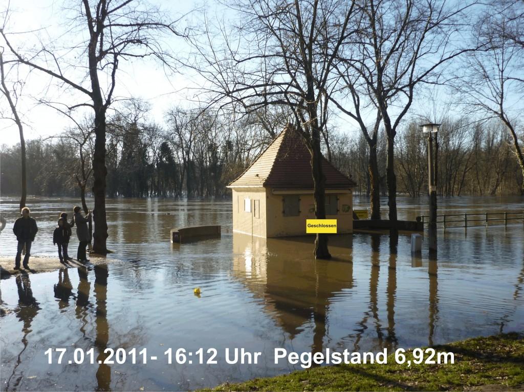 Hochwasser in der Saale