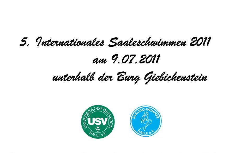 Danksagung und Presse für die Sponsoren vom 5. Saaleschwimmen 2011